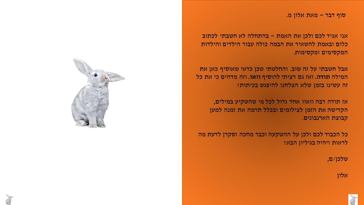 ארנבון היום 6